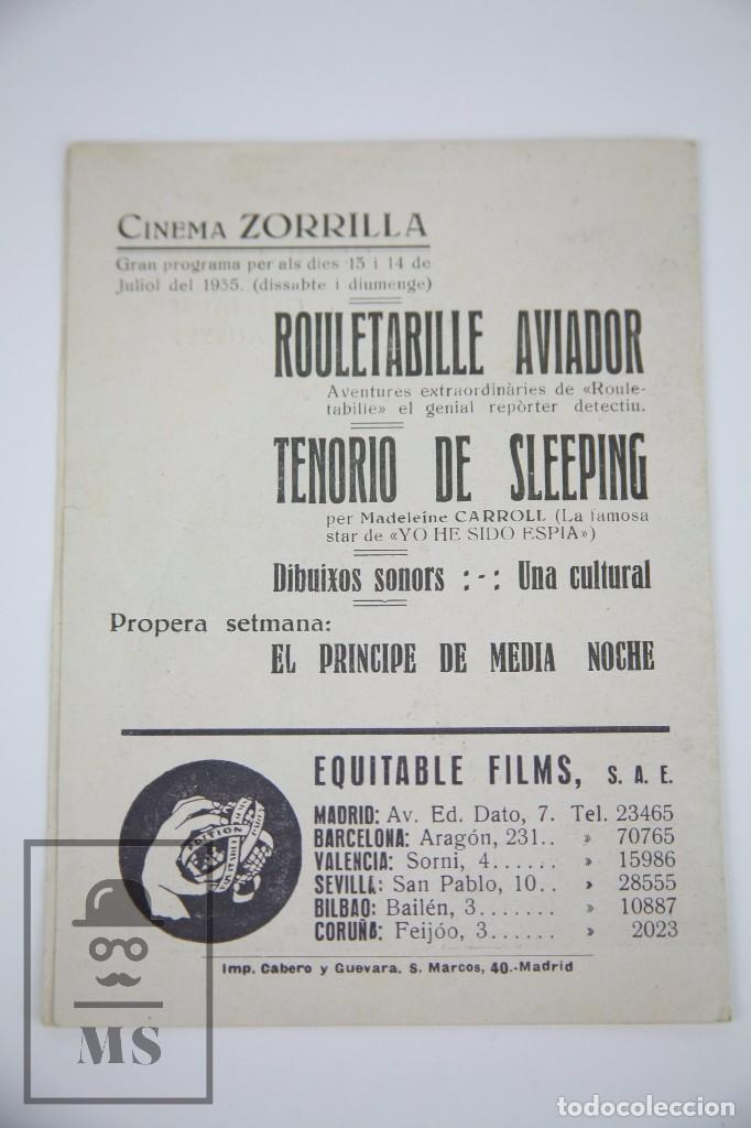 Cine: Programa de Cine Doble - Rouletabille Aviador - Equitable Films, Año 1935 - Foto 3 - 98826099
