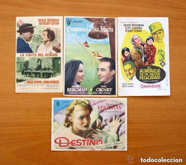 Cine: Cine - Ingrid Bergman - 97 programas y postales - Ver fotos y explicación interior - Foto 4 - 98827403