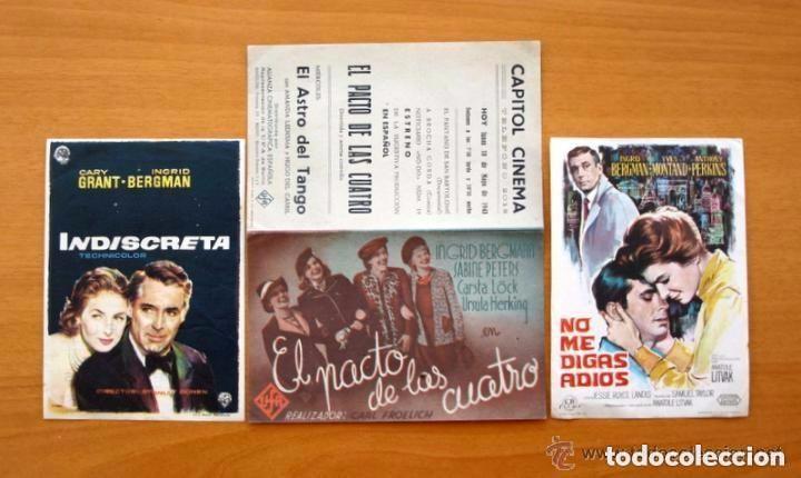 Cine: Cine - Ingrid Bergman - 97 programas y postales - Ver fotos y explicación interior - Foto 8 - 98827403