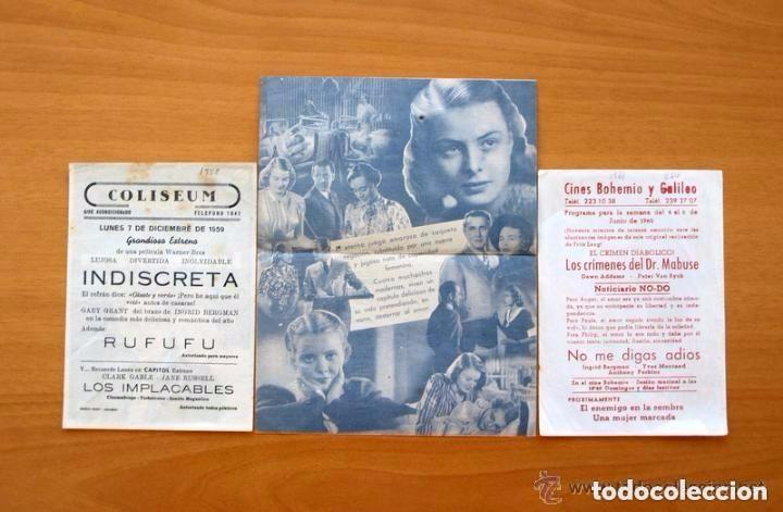 Cine: Cine - Ingrid Bergman - 97 programas y postales - Ver fotos y explicación interior - Foto 9 - 98827403