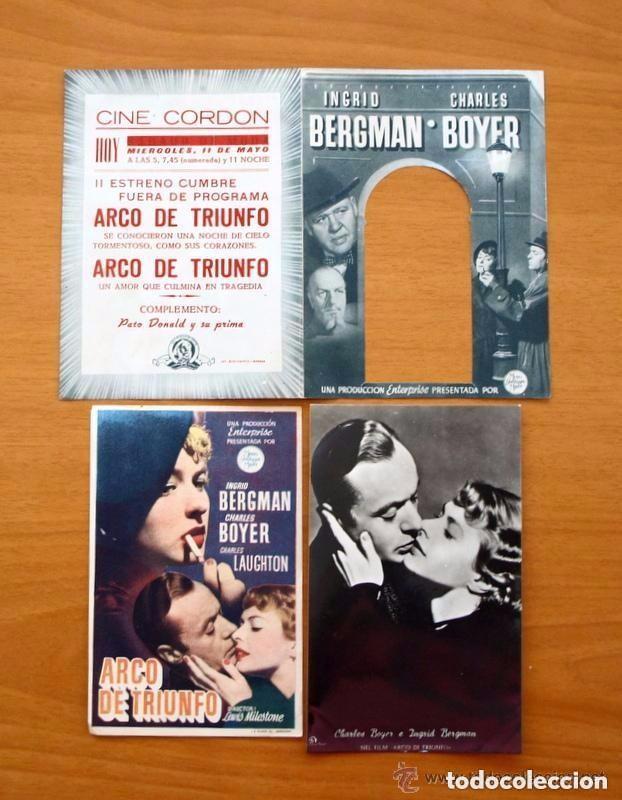Cine: Cine - Ingrid Bergman - 97 programas y postales - Ver fotos y explicación interior - Foto 12 - 98827403