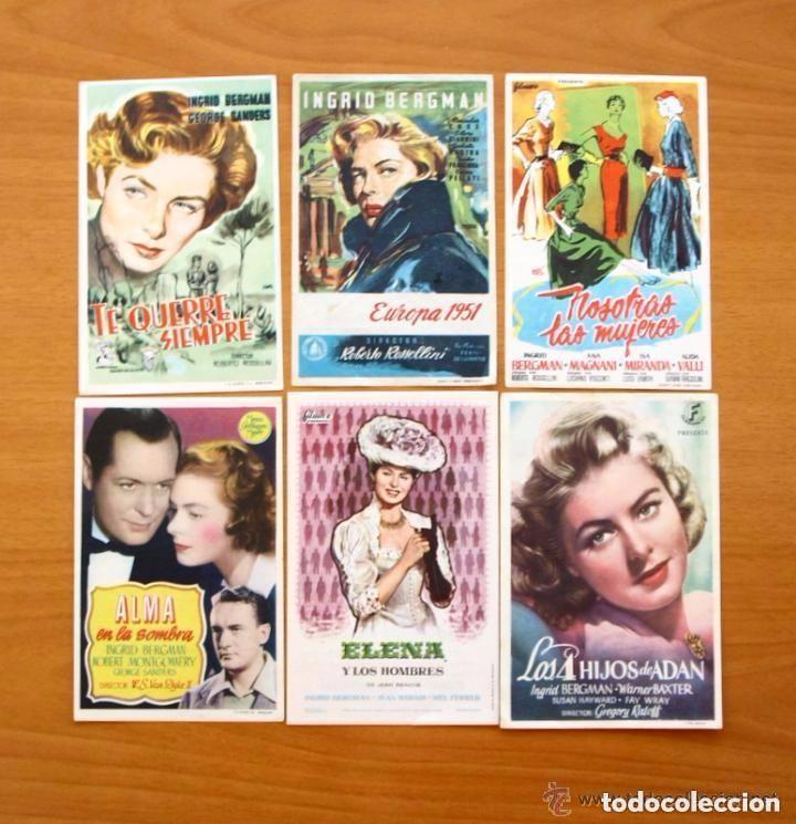 Cine: Cine - Ingrid Bergman - 97 programas y postales - Ver fotos y explicación interior - Foto 27 - 98827403