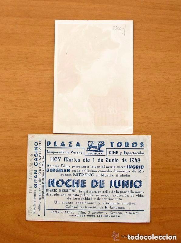 Cine: Cine - Ingrid Bergman - 97 programas y postales - Ver fotos y explicación interior - Foto 34 - 98827403