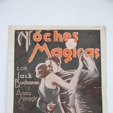 Cine: PROGRAMA DE CINE DOBLE - NOCHES MÁGICAS - MAYLER FILMS, AÑO 1933. Lote 98835763