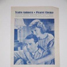 Cine: PROGRAMA DE CINE DOBLE - GLORIA Y HAMBRE - WARNER BROS, AÑO 1935. Lote 98836263