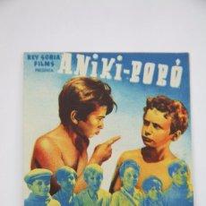 Cine: PROGRAMA DE CINE DOBLE - ANIKI - BOBÓ - REY SORIA FILMS. Lote 98860263