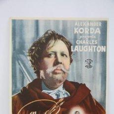 Cine: PROGRAMA DE CINE DOBLE - REMBRANDT - CIDE FILMS, AÑO 1943. Lote 98864079