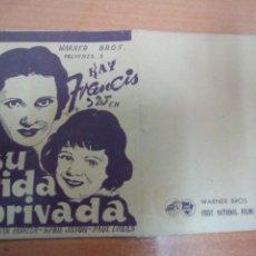 Cine: SU VIDA PRIVADA. Lote 98984320