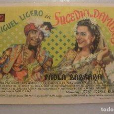 Cine: FOLLETO CINE DOBLE SUCEDIO EN DAMASCO. CINEMA INIESTA 1943. Lote 99158831