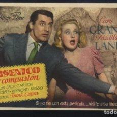 Cine: P-7182- ARSENICO POR COMPASIÓN (ARSENIC AND OLD LACE) CARY GRANT - PRISCILLA LANE - PETER LORRE. Lote 99225115
