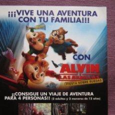 Cine: ALVIN Y LAS ARDILLAS 3. Lote 99267295