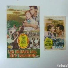 Cine: LAS MINAS DEL REY SALOMÓN. 2 PROGRAMAS CON PUBLICIDAD. Lote 99426243