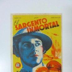 Folhetos de mão de filmes antigos de cinema: EL SARGENTO INMORTAL. HENRY FONDA. CON PUBLICIDAD. SOLIGÓ. Lote 99506459