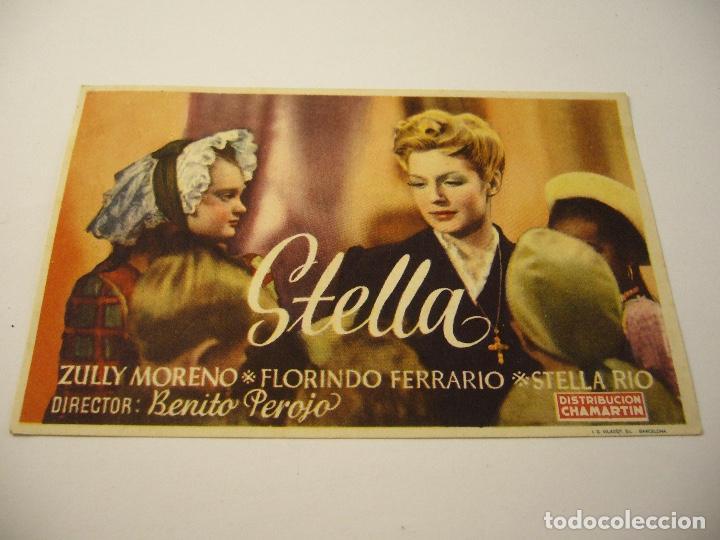 STELLA , ZULLY MORENO, SIN PUBLICIDAD (Cine - Folletos de Mano - Drama)
