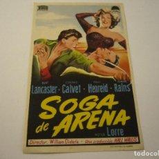 Cine: SOGA DE ARENA, BURT LANCASTER, SIN PUBLICIDAD. Lote 99536247