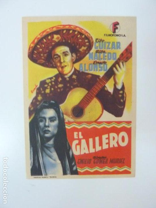 EL GALLERO. TITO GUIZAR. CON PUBLICIDAD (Cine - Folletos de Mano - Musicales)