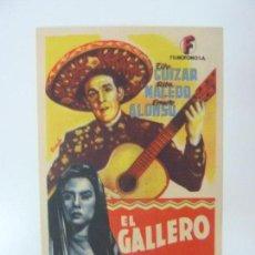 Cine: EL GALLERO. TITO GUIZAR. CON PUBLICIDAD. Lote 99551251