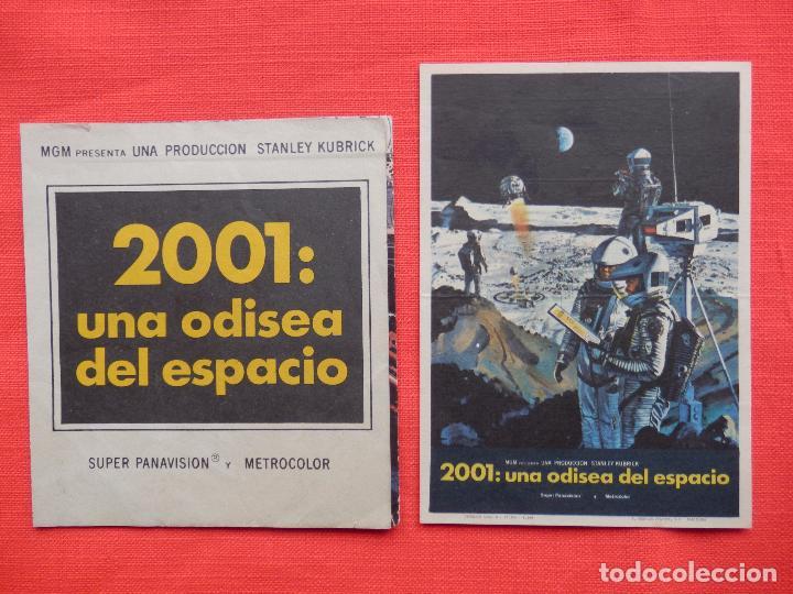 2001: UNA ODISEA DEL ESPACIO, DOBLE Y SENCILLO, STANLEY KUBRIK, MGM, DOBLE S/P SENC MONTERROSA 1970 (Cine - Folletos de Mano - Ciencia Ficción)