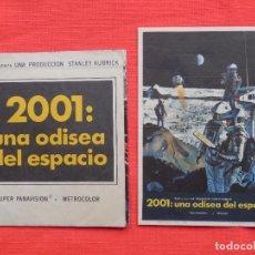 Folhetos de mão de filmes antigos de cinema: 2001: UNA ODISEA DEL ESPACIO, DOBLE Y SENCILLO, STANLEY KUBRIK, MGM, DOBLE S/P SENC MONTERROSA 1970. Lote 99662383