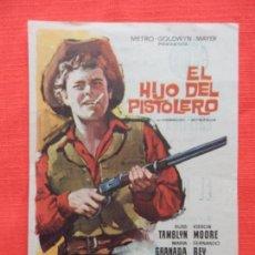 Cine: EL HIJO DEL PISTOLERO, SENCILLO EXCTE. ESTADO. RUSS TAMBLYN KIERON MOORE, PUBLI AVENIDA 1967. Lote 99671375