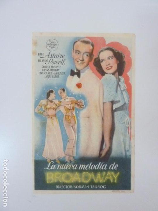 LA NUEVA MELODÍA DE BROADWAY. FD ASTAIRE. CON PUBLICIDAD. CINE CUYÁS. LAS PALMAS. AÑO 1945 (Cine - Folletos de Mano - Musicales)