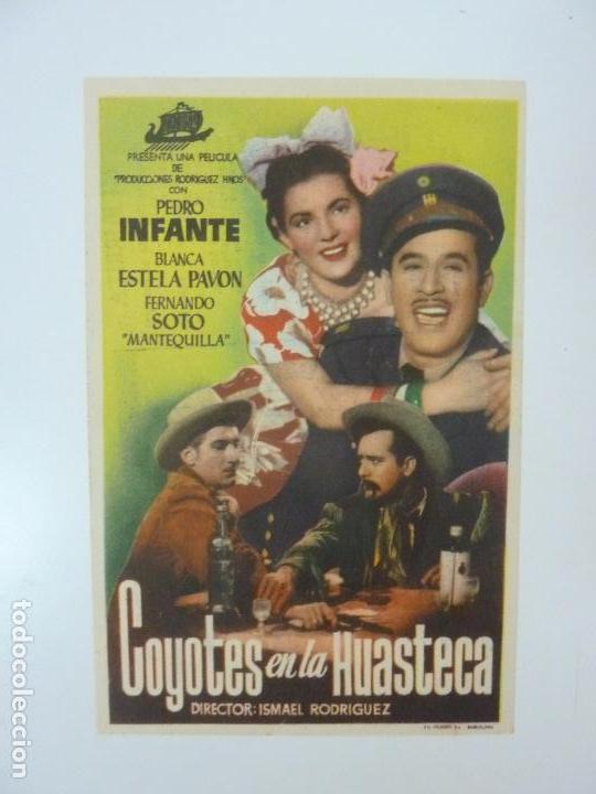 COYOTES EN LA HUASTECA. PEDRO INFANTE. PUBLICIDAD. ROYAL CINEMA (Cine - Folletos de Mano - Musicales)