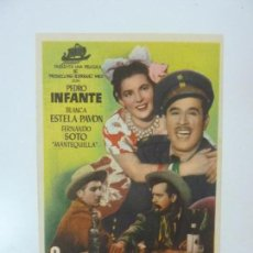 Cine: COYOTES EN LA HUASTECA. PEDRO INFANTE. PUBLICIDAD. ROYAL CINEMA. Lote 99705323