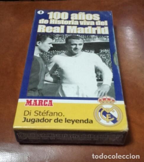 VHS 100 AÑOS. DI STÉFANO. MARCA. (Cine - Folletos de Mano - Deportes)