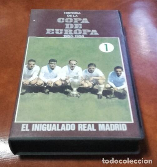 VHS. HISTORIA DE LA COPA DE EUROPA. (Cine - Folletos de Mano - Deportes)