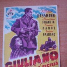 Cine: GIULIANO EL BANDIDO DE SICILIA. Lote 99847495