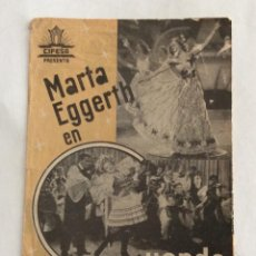 Cine: PROGRAMA CINE DOBLE. CIFESA. MARTA EGGERTH. CUANDO ME SIENTO FELIZ.. Lote 99883723