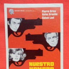 Cine: NUESTRO HOMBRE DE VIENA, SENCILLO ORIGINAL EXCTE. ESTADO, PIERRE BRICE HEINZ DRACHE, SIN PUBLI.. Lote 99890803