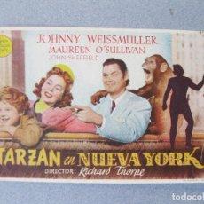 Cine: FOLLETO DE MANO DE LA PELÍCULA TARZÁN EN NUEVA YORK. Lote 100018243