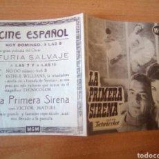 Cine: LA PRIMERA SIRENA. Lote 100035168
