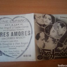 Cine: TRES AMORES. Lote 100035556