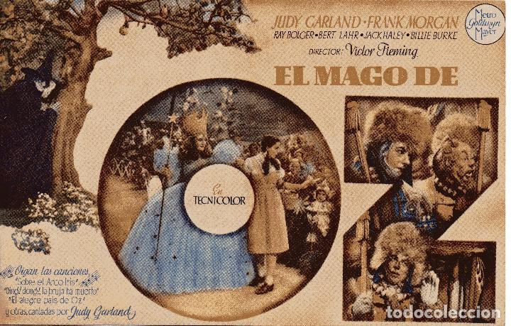 EL MAGO DE OZ - JUDY GARLAND - METRO GOLDWYN MAYER (Cine - Folletos de Mano - Infantil)