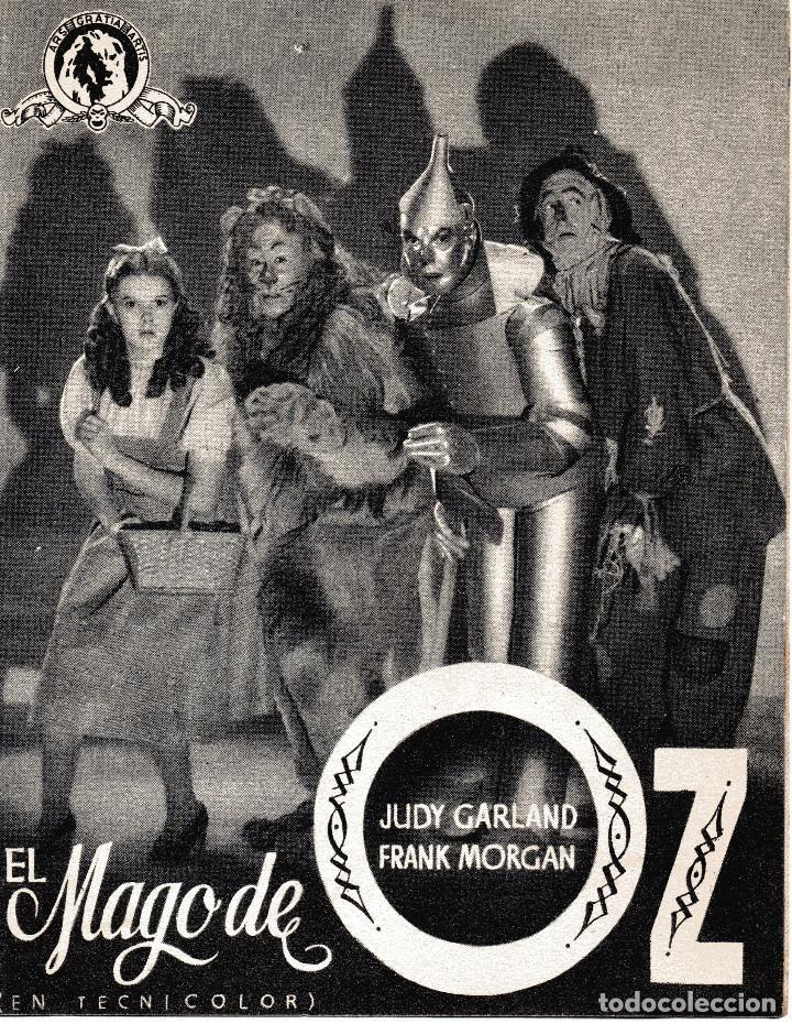 Cine: EL MAGO DE OZ - JUDY GARLAND - METRO GOLDWYN MAYER - Foto 2 - 100088055