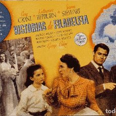 Cine: HISTORIAS DE FILADELFIA - CARY GRANT & KATHARINE HEPBURN & JAMES STEWART - METRO GOLDWYN MAYER. Lote 100088579