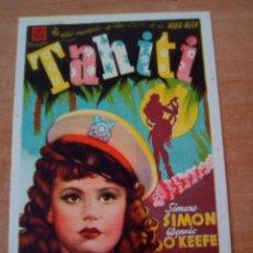 Cine: TAHITI. Lote 100707298