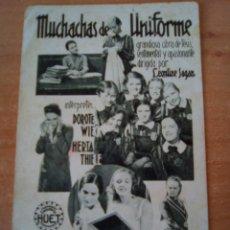 Cine: MUCHACHAS DE UNIFORME. Lote 100707999