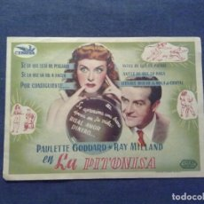 Cine: LA PITONISA. PAULETTE GODDARD,RAY MILLAND. Lote 100730683