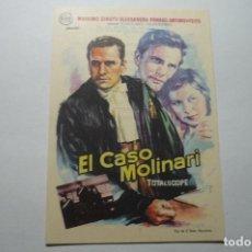 Cine: PROGRAMA EL CASO MOLINARI - MASSIMO GIROTTI -PUBLICIDAD. Lote 100787611