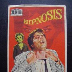 Cine: HIPNOSIS, JEAN SOREL, CINE PRINCIPAL BOLET, 1963. Lote 133993185