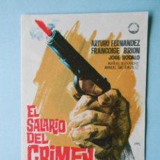 Cine: SALARIO DEL CRIMEN (ARTURO FERNANDEZ / FRANCOISE BRION) EXCELENTE ESTADO. Lote 101225875