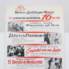 Cine: 11ª LISTA DE MATERIAL / PELÍCULAS METRO GOLDWYN MAYER 16 MM - 2º FESTIVAL TOM Y JERRY, VENTOLERA.... Lote 101351635