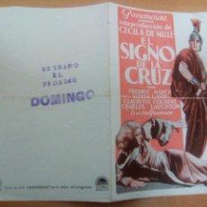 Cine: EL SIGNO DE LA CRUZ. Lote 101492907