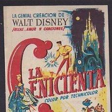 Cine: PROGRAMA DE MANO LA CENICIENTA CON PUBLICIDAD . Lote 101554347