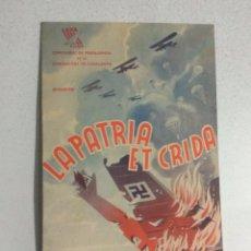 Cine: PROGRAMA DE CINE LA PATRIA ET CRIDA 1937. Lote 101658211