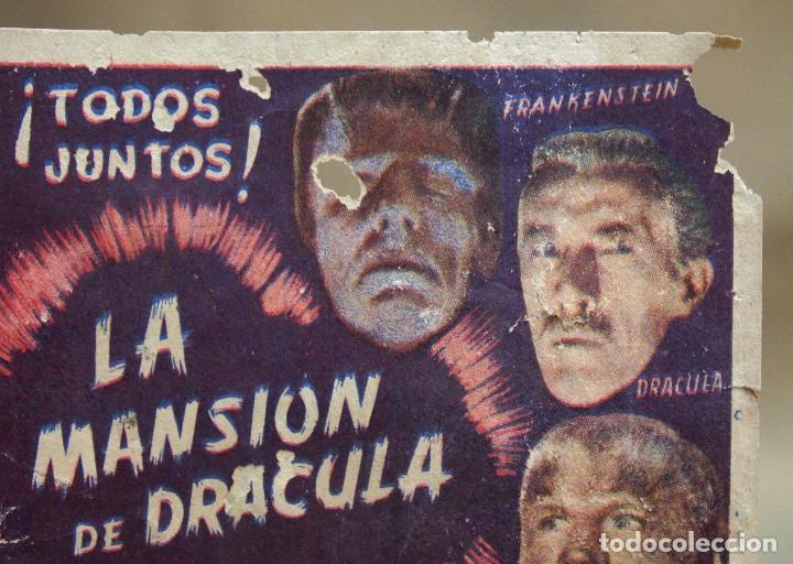 Cine: ANTIGUO FOLLETO DE MANO, PROGRAMA DE CINE, LA MANSION DE DRACULA, TERROR, LON CHANEY, CIFESA - Foto 2 - 101989223