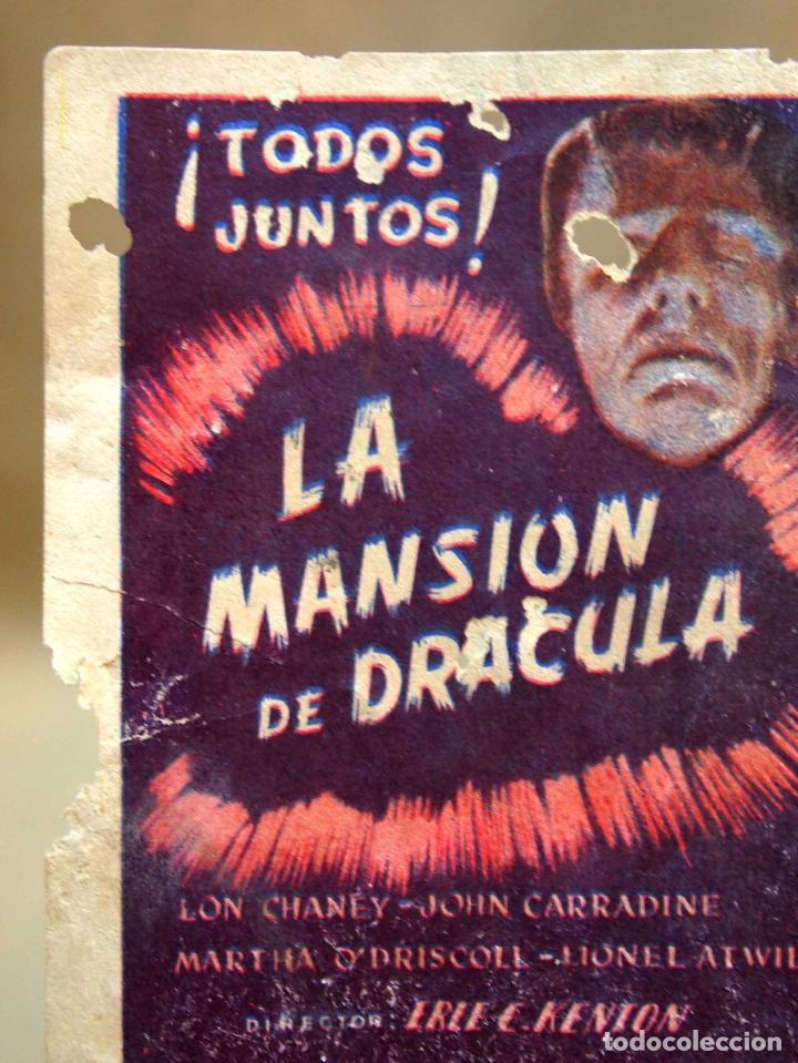 Cine: ANTIGUO FOLLETO DE MANO, PROGRAMA DE CINE, LA MANSION DE DRACULA, TERROR, LON CHANEY, CIFESA - Foto 4 - 101989223